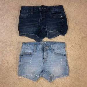 2 pair of justice jean shorts size 10 slim